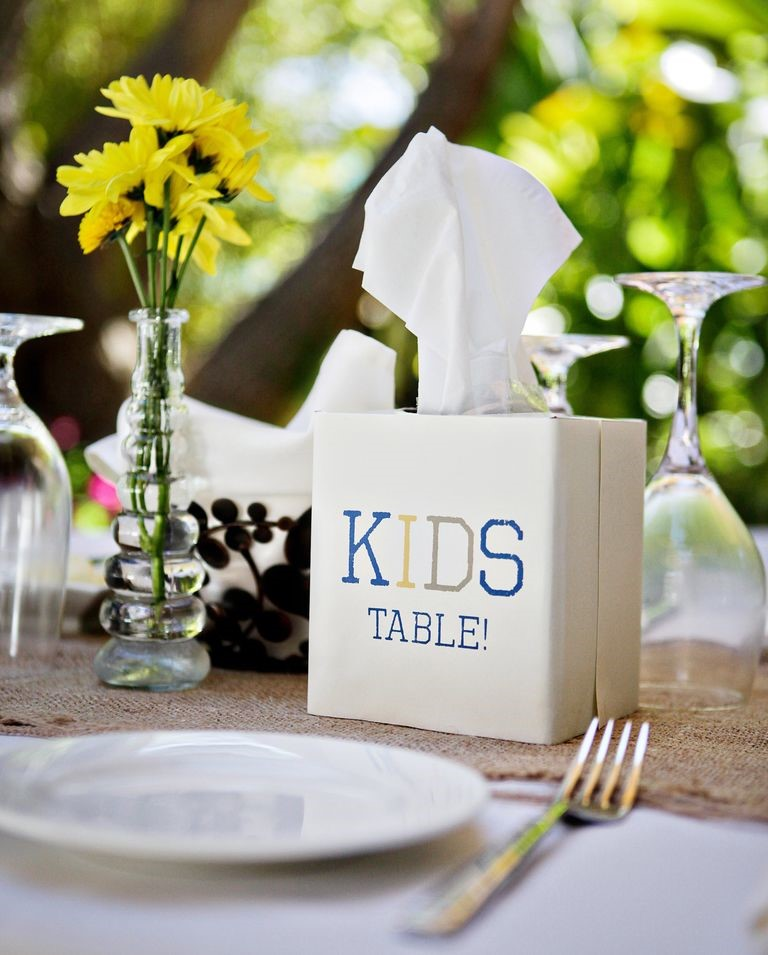 Place setting at kids table